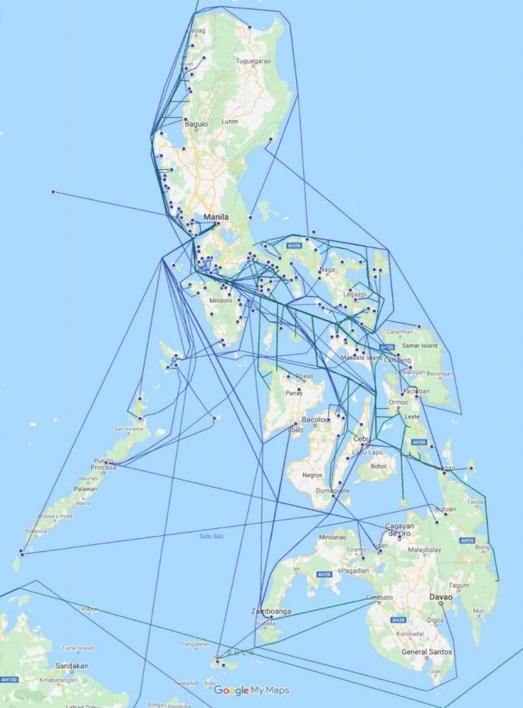 船舶情報の可視化とその分析2:1913年フィリピンにおける蒸気船のネットワーク